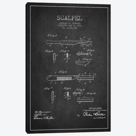 Scalpel Charcoal Patent Blueprint Canvas Print #ADP1769} by Aged Pixel Canvas Art Print