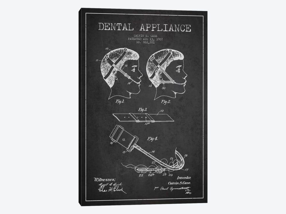 Dental Appliance Charcoal Patent Blueprint by Aged Pixel 1-piece Canvas Art