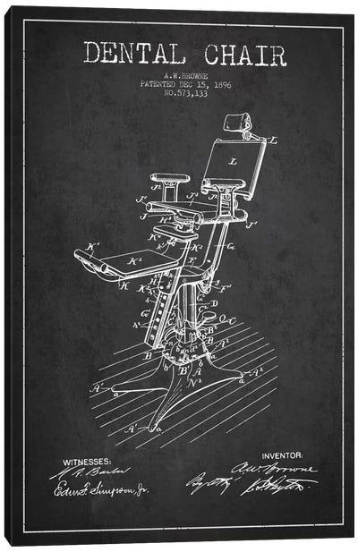 Dental Chair Charcoal Patent Blueprint Canvas Art Print