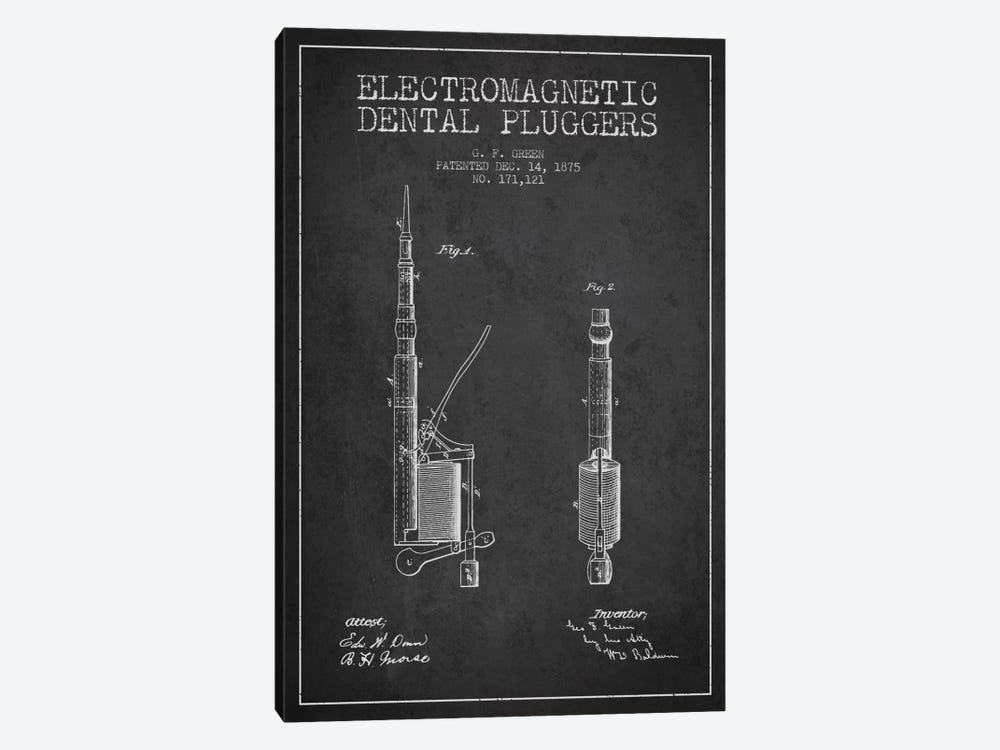 Electromagnetic Dental Pluggers Charcoal Patent Blueprint by Aged Pixel 1-piece Art Print