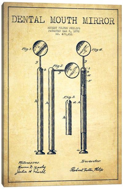 Mouth Mirror Vintage Patent Blueprint Canvas Art Print