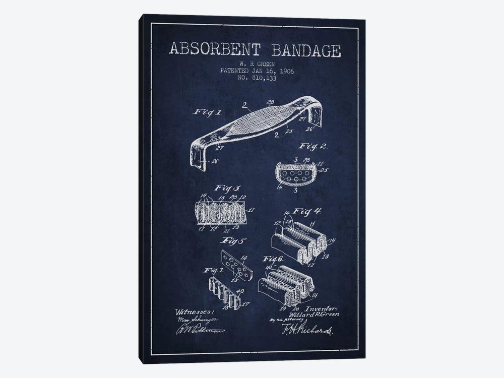 Absorbent Bandage Navy Blue Patent Blueprint by Aged Pixel 1-piece Art Print
