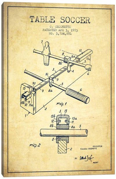 Table Soccer Vintage Patent Blueprint Canvas Print #ADP185