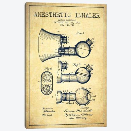 Anesthetic Inhaler Vintage Patent Blueprint Canvas Print #ADP1864} by Aged Pixel Art Print
