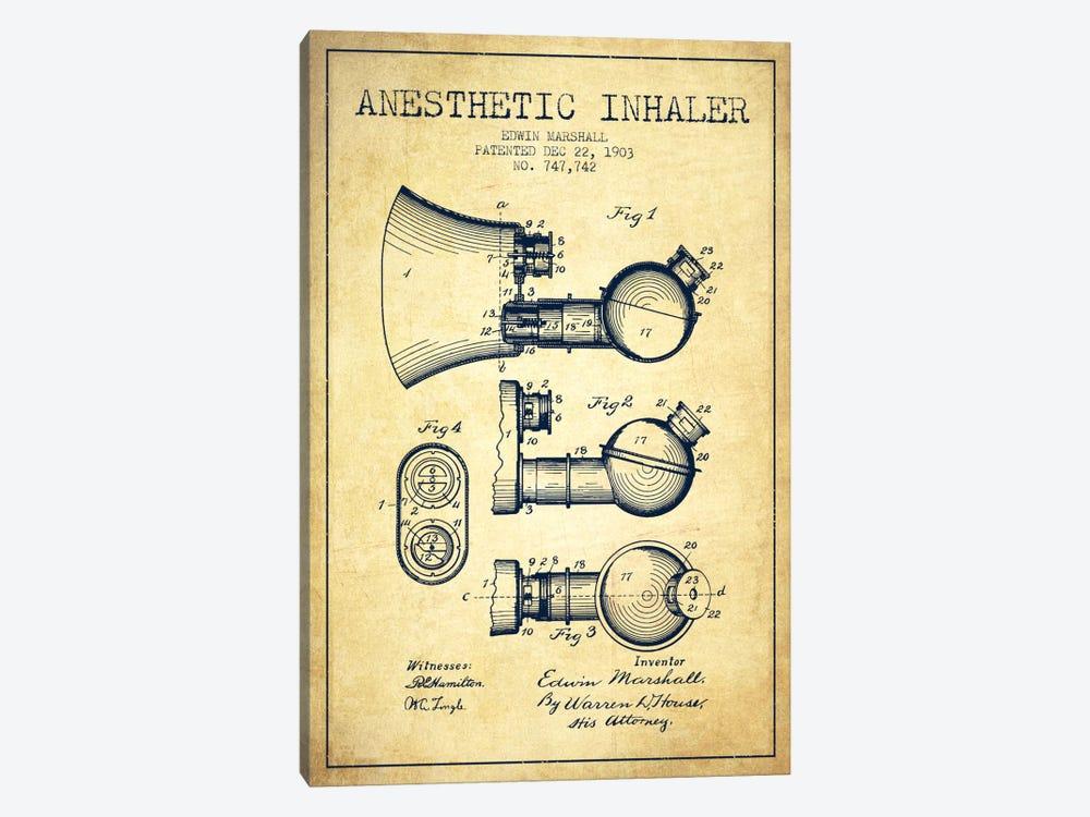 Anesthetic Inhaler Vintage Patent Blueprint by Aged Pixel 1-piece Art Print