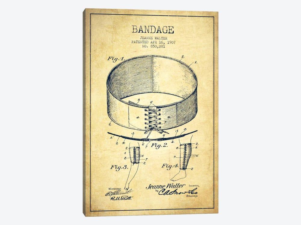 Bandage 1 Vintage Patent Blueprint by Aged Pixel 1-piece Canvas Art
