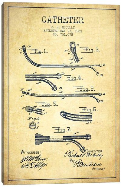Catheter Vintage Patent Blueprint Canvas Print #ADP1879