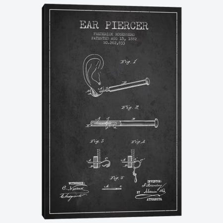Ear Piercer 2 Charcoal Patent Blueprint Canvas Print #ADP1905} by Aged Pixel Canvas Art