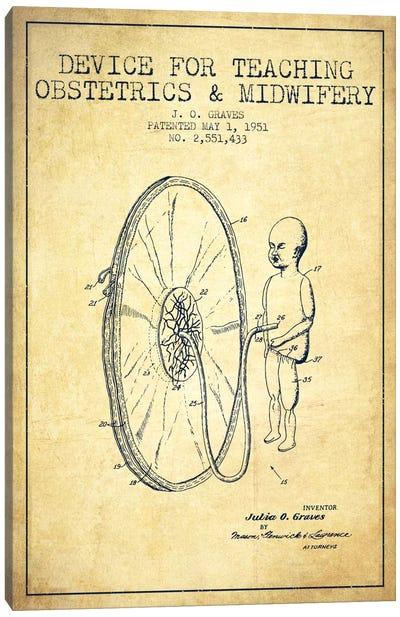 Midwife Vintage Patent Blueprint Canvas Print #ADP1939
