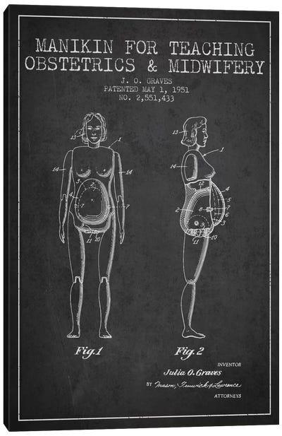 Midwife 1 Charcoal Patent Blueprint Canvas Print #ADP1940