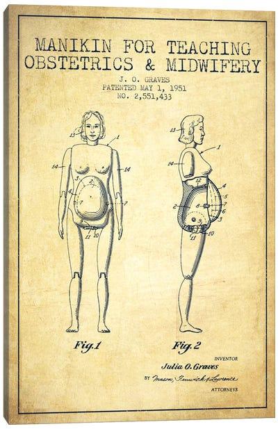 Midwife 1 Vintage Patent Blueprint Canvas Print #ADP1944