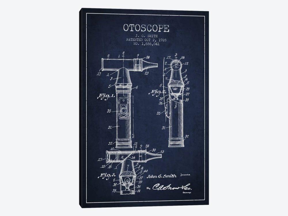 Otoscope 3 Navy Blue Patent Blueprint by Aged Pixel 1-piece Canvas Wall Art