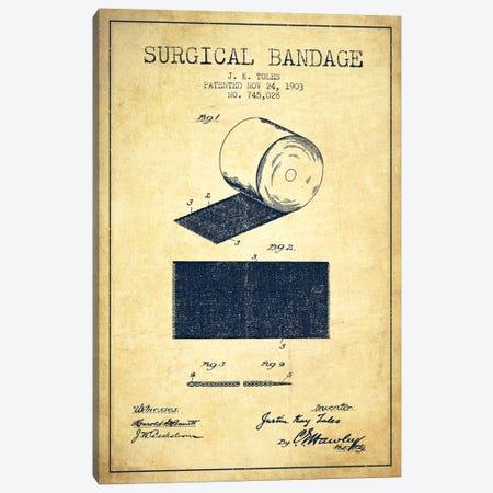 Surgical Bandage Vintage Patent Blueprint Canvas Print #ADP1994} by Aged Pixel Canvas Print