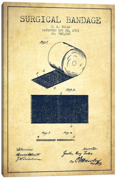 Surgical Bandage Vintage Patent Blueprint Canvas Art Print