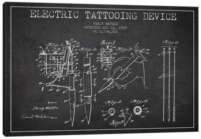 Tattoo Device Charcoal Patent Blueprint Canvas Art Print