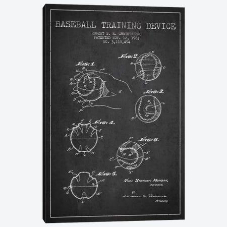 Baseball Device Charcoal Patent Blueprint Canvas Print #ADP2050} by Aged Pixel Canvas Art Print