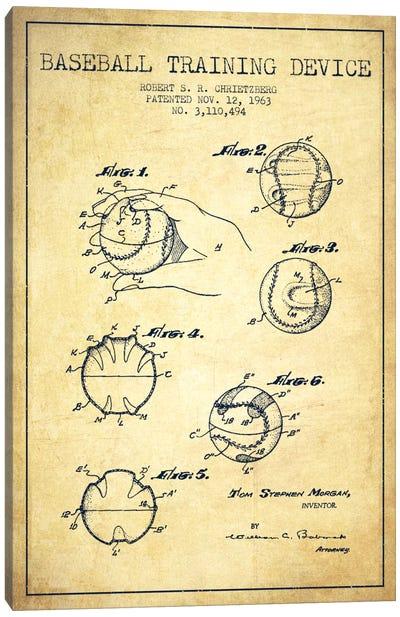 Baseball Device Vintage Patent Blueprint Canvas Print #ADP2054