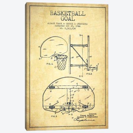 F. Albach & G.R. Chervenka Basketball Goal Patent Blueprint (Vintage) Canvas Print #ADP2094} by Aged Pixel Canvas Wall Art