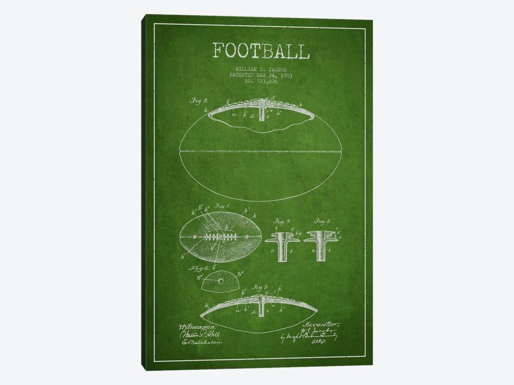 Football Green Patent Blueprint by Aged Pixel 1-piece Art Print