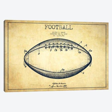 Football Vintage Patent Blueprint Canvas Print #ADP2109} by Aged Pixel Canvas Print