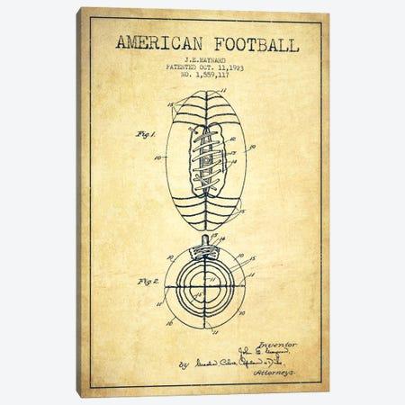 Football Vintage Patent Blueprint Canvas Print #ADP2114} by Aged Pixel Canvas Art Print