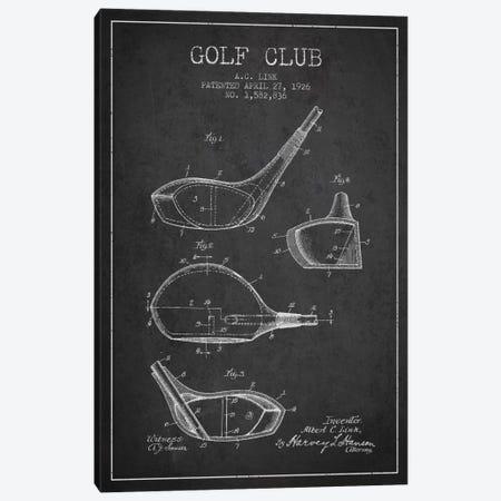 Golf Club Charcoal Patent Blueprint Canvas Print #ADP2125} by Aged Pixel Canvas Art