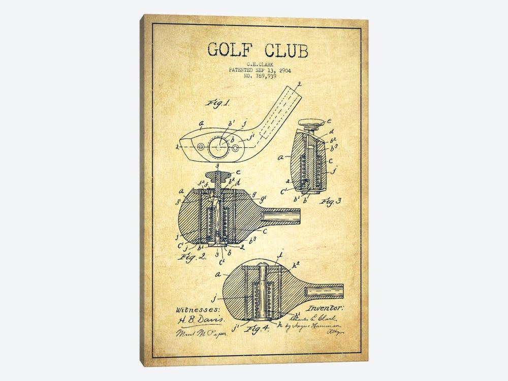Golf Club Vintage Patent Blueprint by Aged Pixel 1-piece Art Print