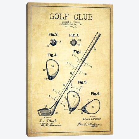 Golf Club Vintage Patent Blueprint Canvas Print #ADP2154} by Aged Pixel Canvas Print