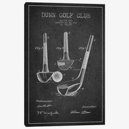 Dunn Golf Club Charcoal Patent Blueprint Canvas Print #ADP2165} by Aged Pixel Canvas Wall Art