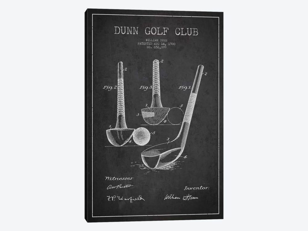 Dunn Golf Club Charcoal Patent Blueprint by Aged Pixel 1-piece Canvas Wall Art