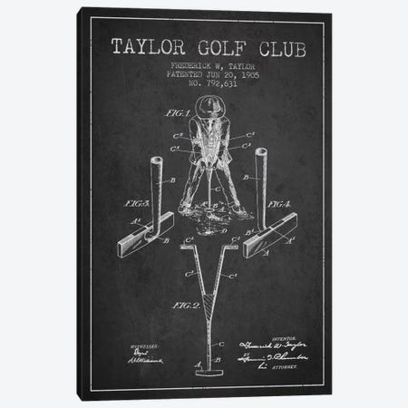 Taylor Golf Club Charcoal Patent Blueprint Canvas Print #ADP2180} by Aged Pixel Canvas Art Print