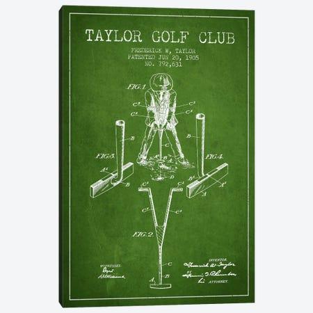 Taylor Golf Club Green Patent Blueprint Canvas Print #ADP2181} by Aged Pixel Art Print