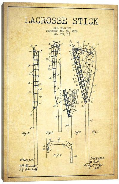 Lacrosse Stick Vintage Patent Blueprint Canvas Print #ADP2199