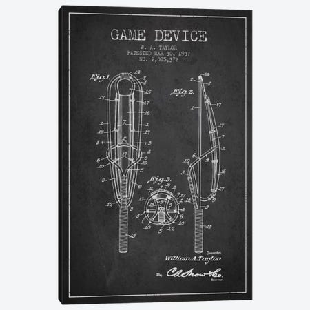 Game Device Charcoal Patent Blueprint Canvas Print #ADP2200} by Aged Pixel Canvas Artwork