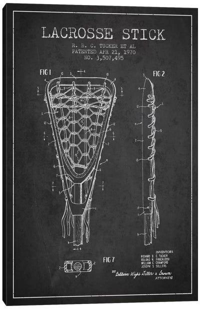 Lacrosse Stick Charcoal Patent Blueprint Canvas Print #ADP2205