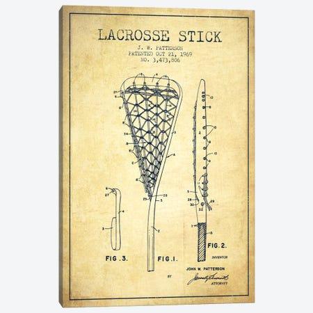Lacrosse Stick Vintage Patent Blueprint Canvas Print #ADP2214} by Aged Pixel Canvas Wall Art