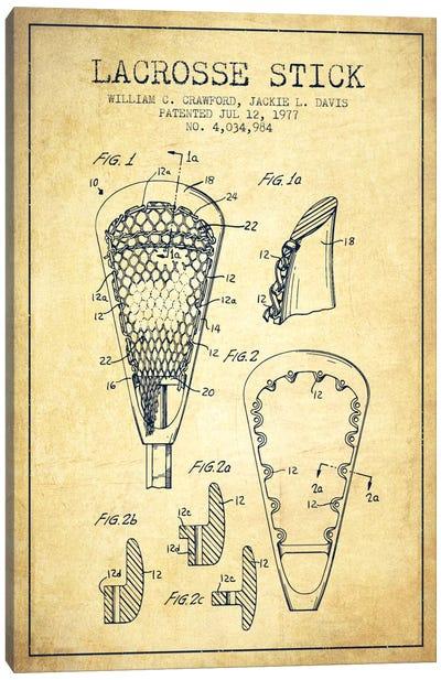 Lacrosse Stick Vintage Patent Blueprint Canvas Print #ADP2224