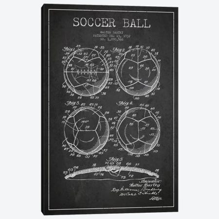 Bartky Soccer Ball Charcoal Patent Blueprint Canvas Print #ADP2245} by Aged Pixel Canvas Print