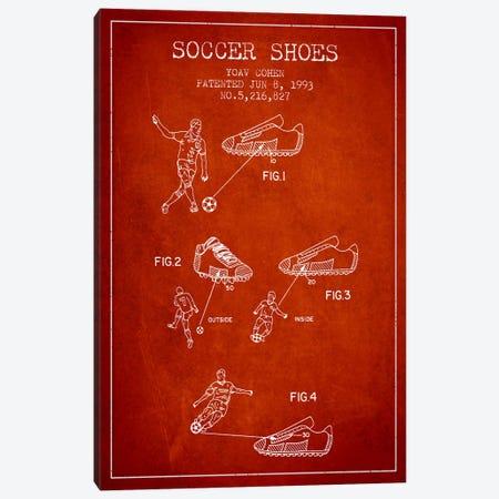 Cohen Soccer Shoe Red Patent Blueprint Canvas Print #ADP2258} by Aged Pixel Canvas Print