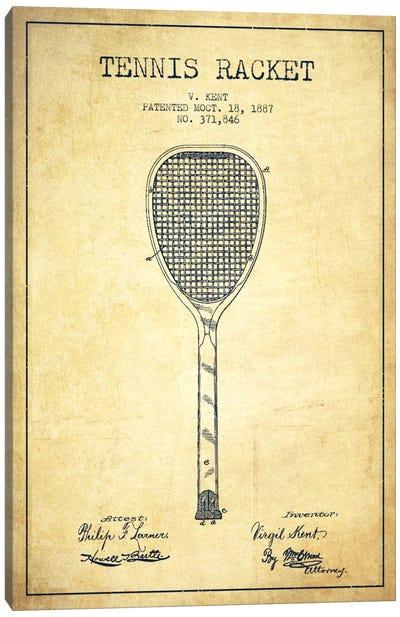 Tennis Racket Vintage Patent Blueprint Canvas Print #ADP2269
