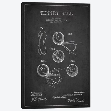 Tennis Ball Charcoal Patent Blueprint Canvas Print #ADP2270} by Aged Pixel Art Print