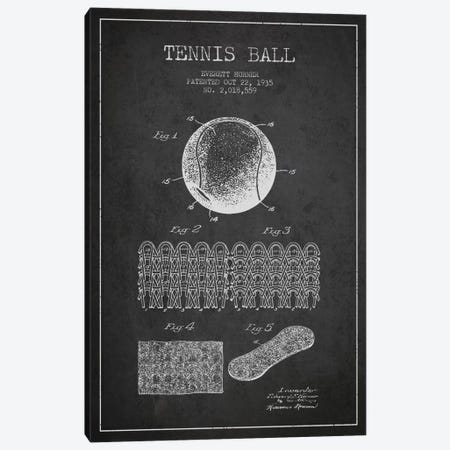 Tennis Ball Charcoal Patent Blueprint Canvas Print #ADP2280} by Aged Pixel Canvas Art