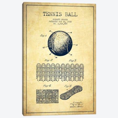 Tennis Ball Vintage Patent Blueprint Canvas Print #ADP2284} by Aged Pixel Canvas Print