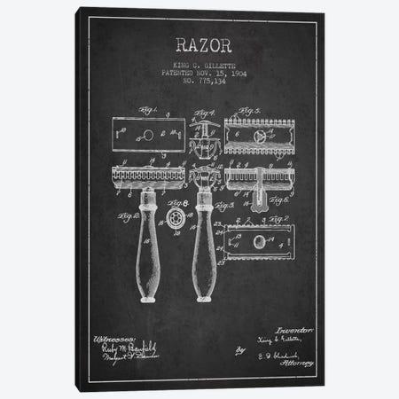 Razor Charcoal Patent Blueprint Canvas Print #ADP228} by Aged Pixel Art Print