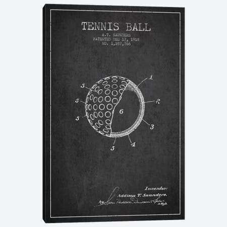 Tennis Ball Charcoal Patent Blueprint Canvas Print #ADP2300} by Aged Pixel Canvas Print