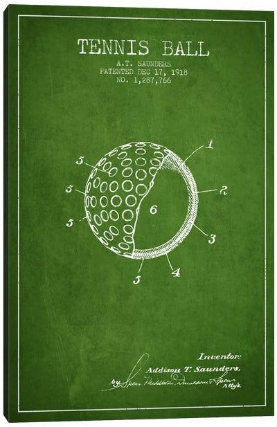 Tennis Ball Green Patent Blueprint Canvas Art Print