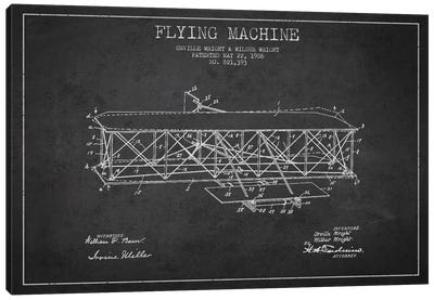 Airplane Charcoal Patent Blueprint Canvas Print #ADP2305