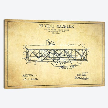 Airplane Vintage Patent Blueprint Canvas Print #ADP2309} by Aged Pixel Canvas Print