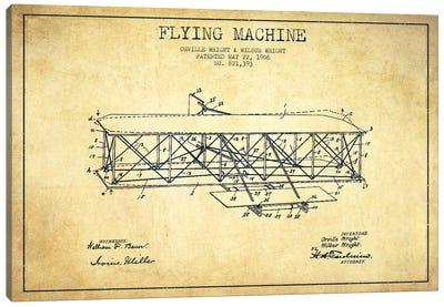 Airplane Vintage Patent Blueprint Canvas Print #ADP2309