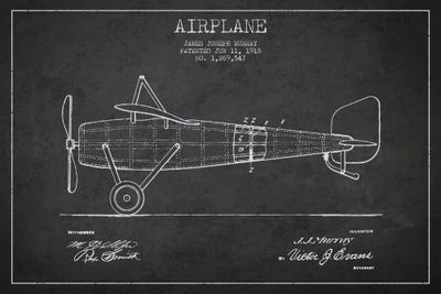 Airplane charcoal patent blueprint canvas wall art by aged pixel canvas malvernweather Images